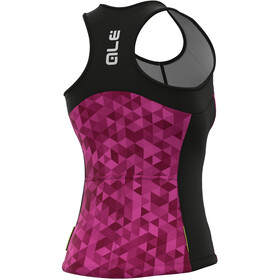 Alé Cycling Solid Triangles Tank Top Women, rosa/violeta